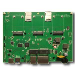 WiFi Router Board MT7621 3 Giga Ethernets 3 mini PCIe AP7621-NV1