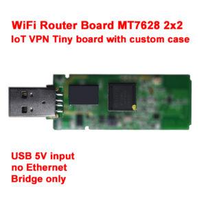 WiFi Router USB Board MTK MT7628 11n IoT VPN Tiny size 78mm x 23mm 300 Mbps AP7628-NU1 v1