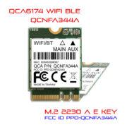 WiFi M.2 2230 A E key module QCA6174 11ac BLE 5.0 QCNFA344A
