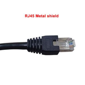 Rj45 metal shield end