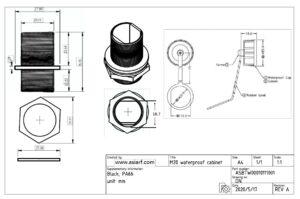 M20 IP67 Waterproof cabinet connector