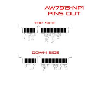 WiFi6 4T4R 2.4G / 5GHz Dual Bands Dual Concurrents mPCIe Card IEEE802.11ax/ac/a/b/g/n AW7915-NP1 pins out
