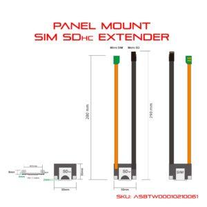 panel wall mount sim extender sd extender dimension diagram