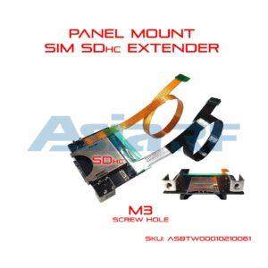 panel wall mount sim extender sd extender back side