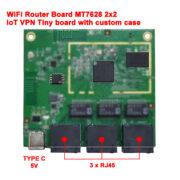WiFi Router Board MTK MT7628 11n IoT VPN Tiny size 73 x 61 mm 300 Mbps AP7628-NN1 v1