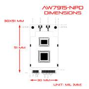 WiFi6 2T2R Dual Bands Dual Concurrents DBDC mPCIe Card IEEE802.11ax 2.4G 5GHz MT7915 AW7915-NPD Dimension